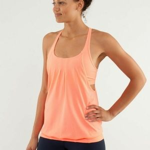 Lululemon Practice Freely Tank Top Coral Orange 10